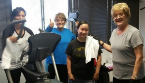 Dr Whitomb's staff at workout